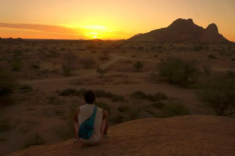 Spitzkoppe Namibia sunset