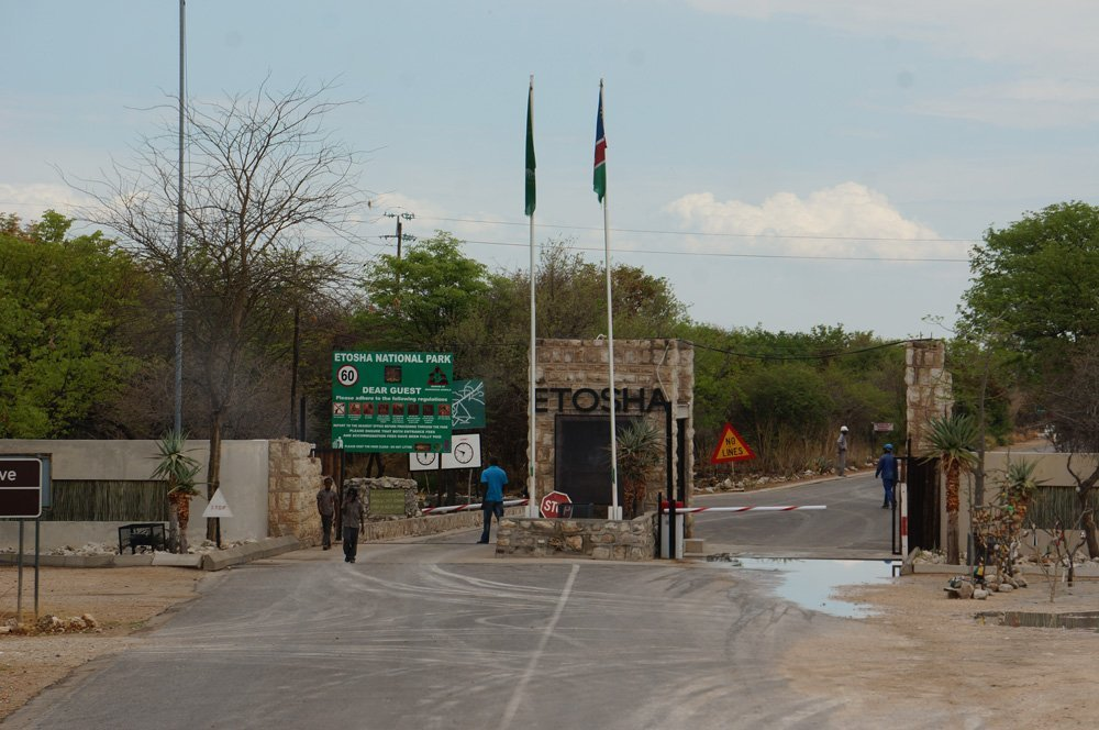 Entrance to the Etosha Park.