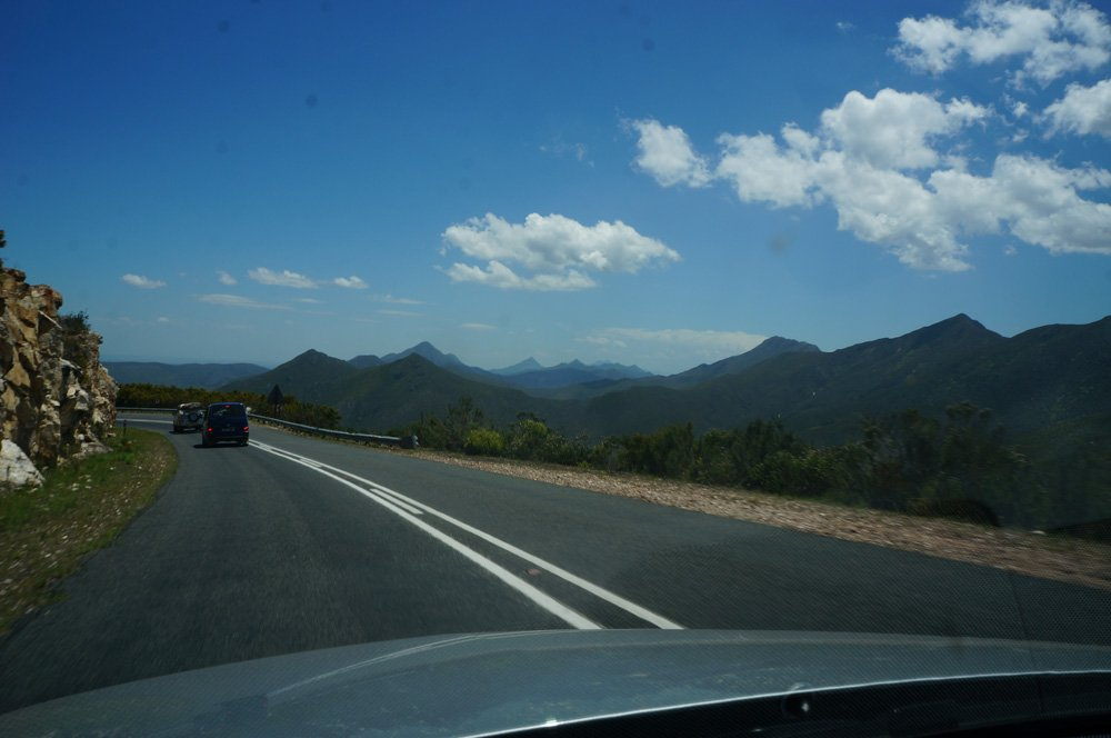 Driving through the mountains into the Karoo.