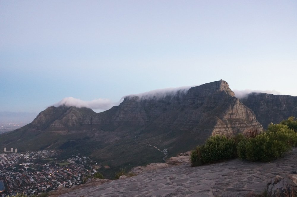 Table Mountain seen from Lions Head.