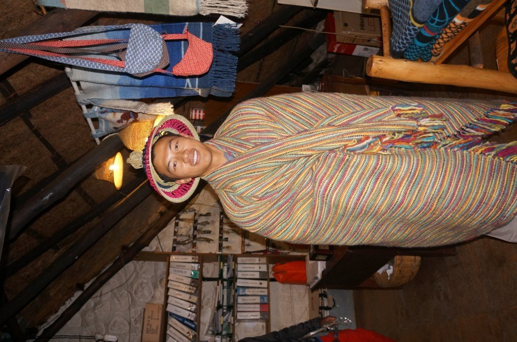 Me in some traditional gear. Like a cross between Buddhist Monk and a poncho.