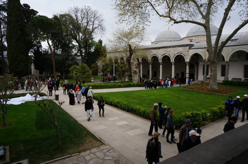 Inside of the Topkapi Palace