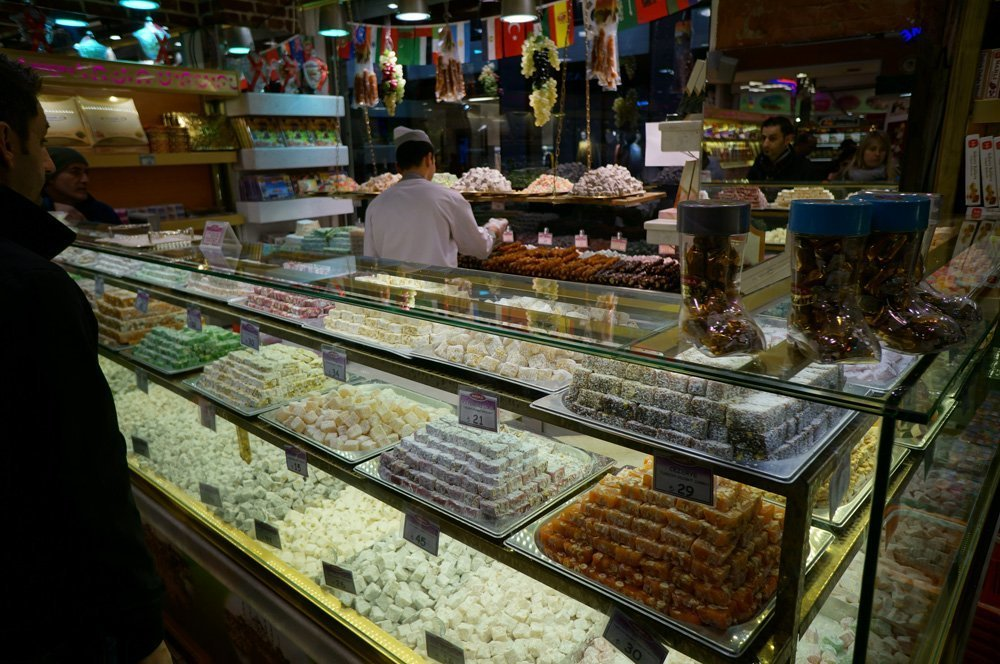More Turkish delight than one can handle. No need to ask me where this specific store is, there are hundreds just like it all over.