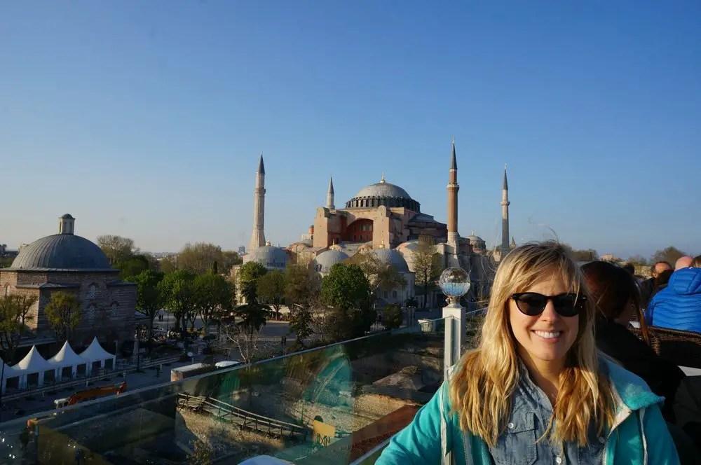 Erica's profile pic with the Ayasofya.
