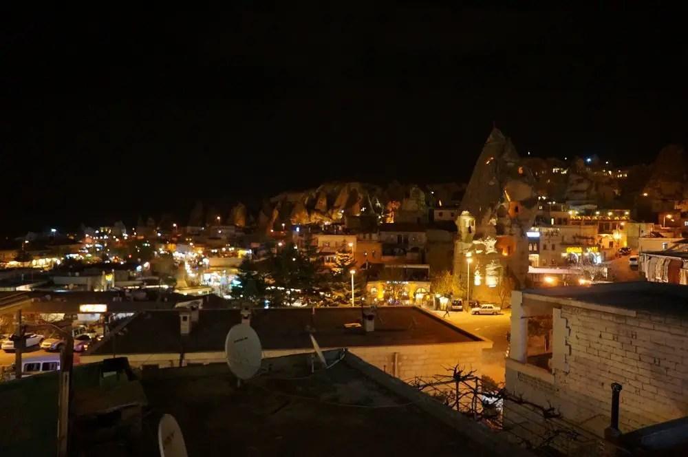 View of Cappadocia at night