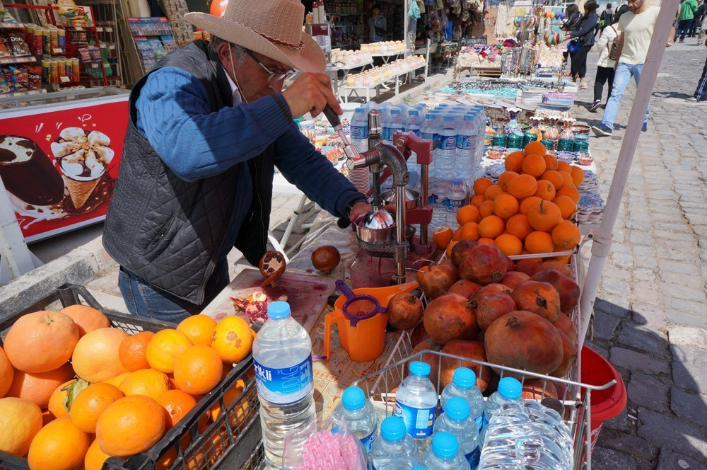 Make sure to have a few of the fresh squeezed Orange and Pomegranate juice in Turkey!