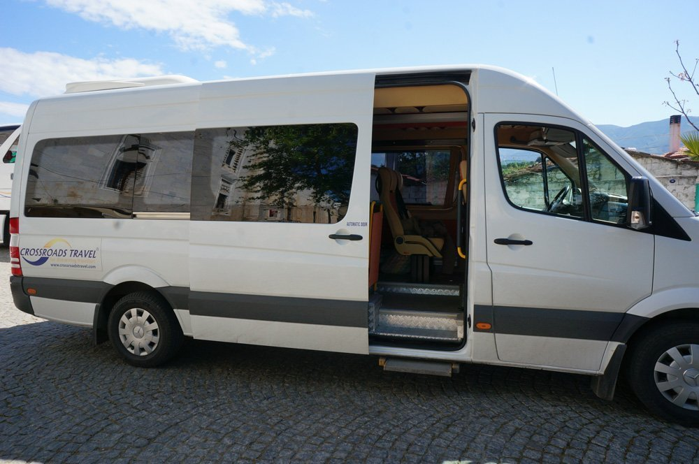 Typical vans used for our day tours.