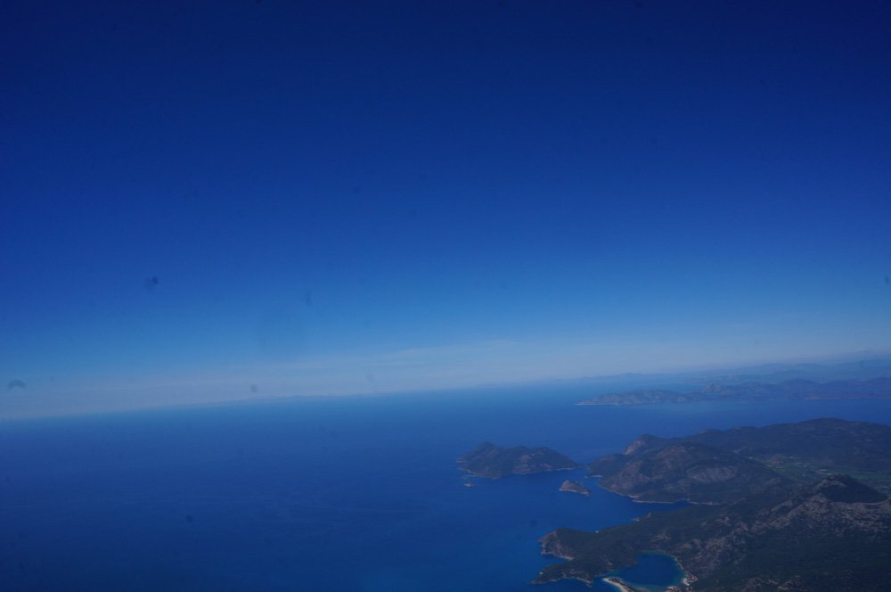 The sea from above.