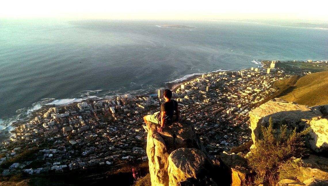 Lions head sunset