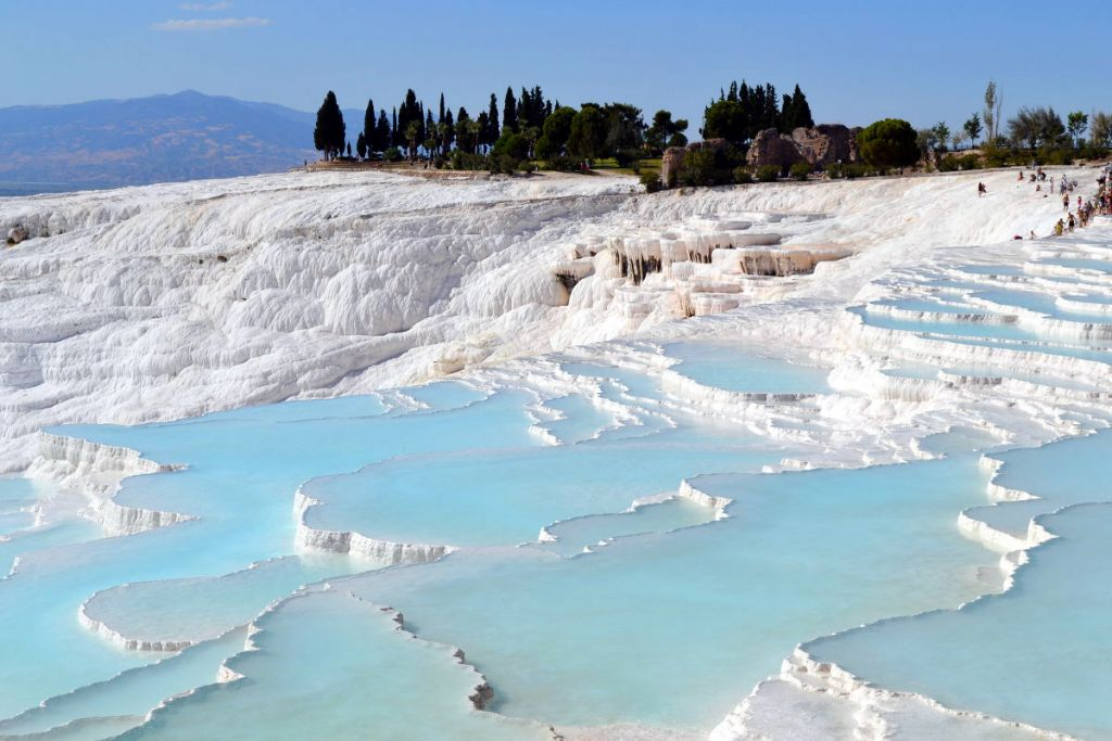 Pammukale travertine pool turkey