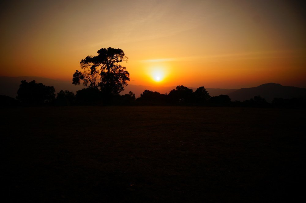 African sunrise over the Ngorogoro Crater. Can't be beat...
