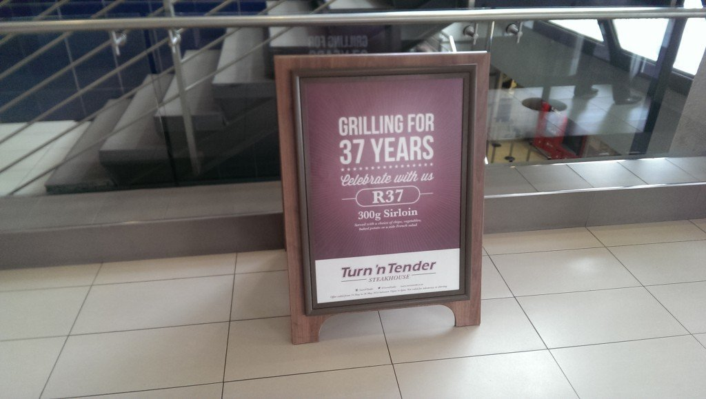 All hope is not lost.Last year, Turn N Tender had 36R 300g steak specials and it's only gone up 1R this year! Can definitely live with that inflation.