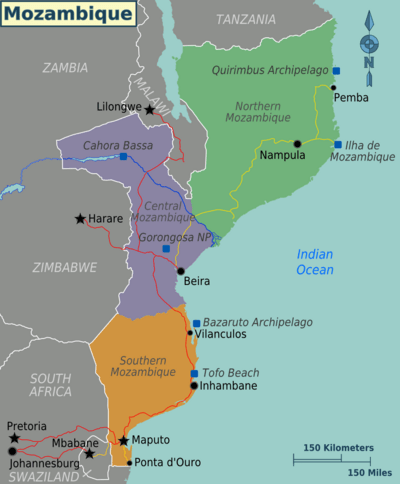 Visual depiction of Mozambique
