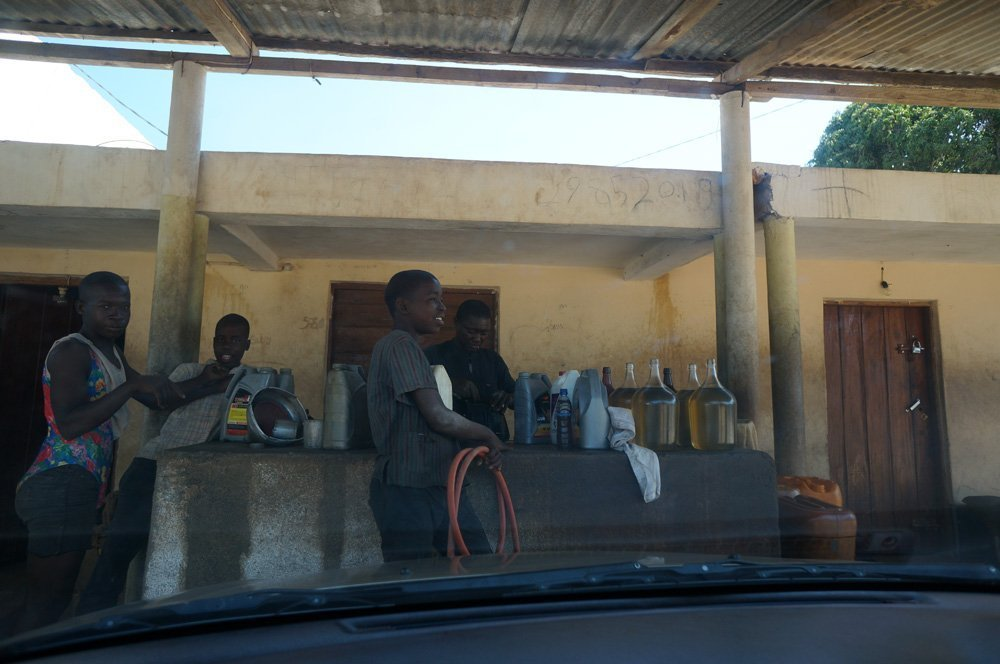 Mozambique road side gas station