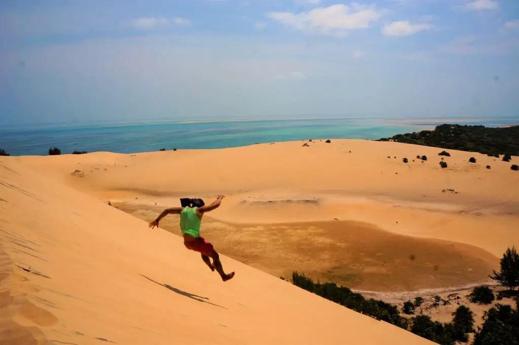 Bazaruto Island sand dunes vilankulos mozambique