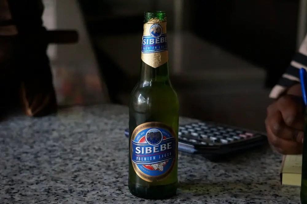 Sibebe, Swaziland's national beer.