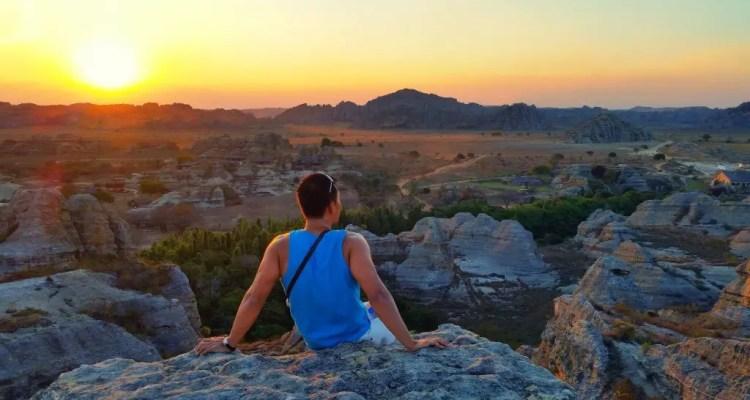 Sunset in Isalo Madagascar