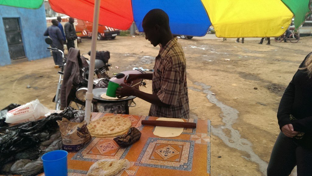 Yes they cook most of your meals, but don't forget to try some of the local foods too, like these delicious chapatis in Uganda.