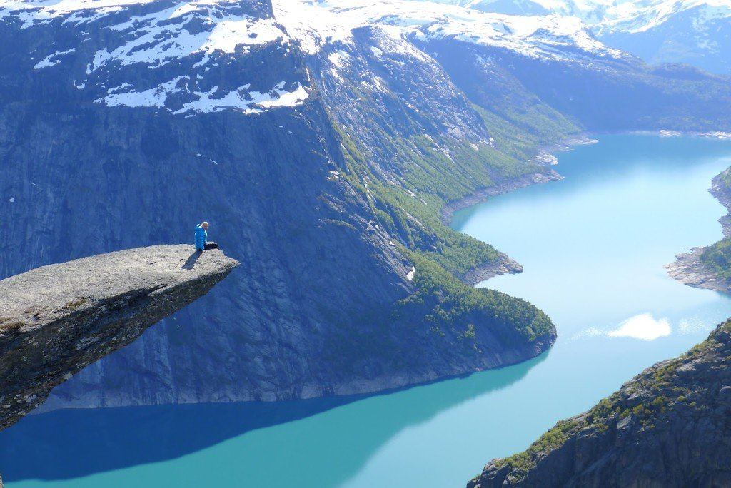Hard to beat this view from Trolltunga, Norway.
