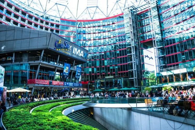 The ultra modern shopping center at Karlsplatz