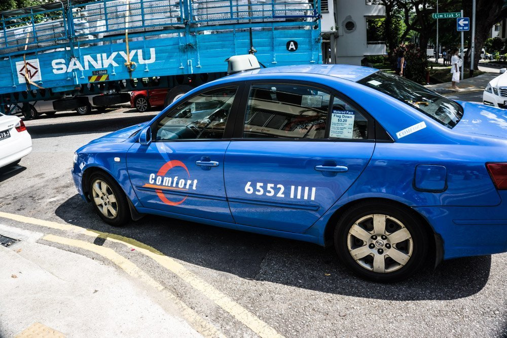 Your standard Singapore taxi