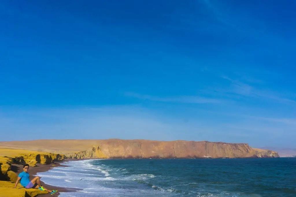 Paracas red sand ebach