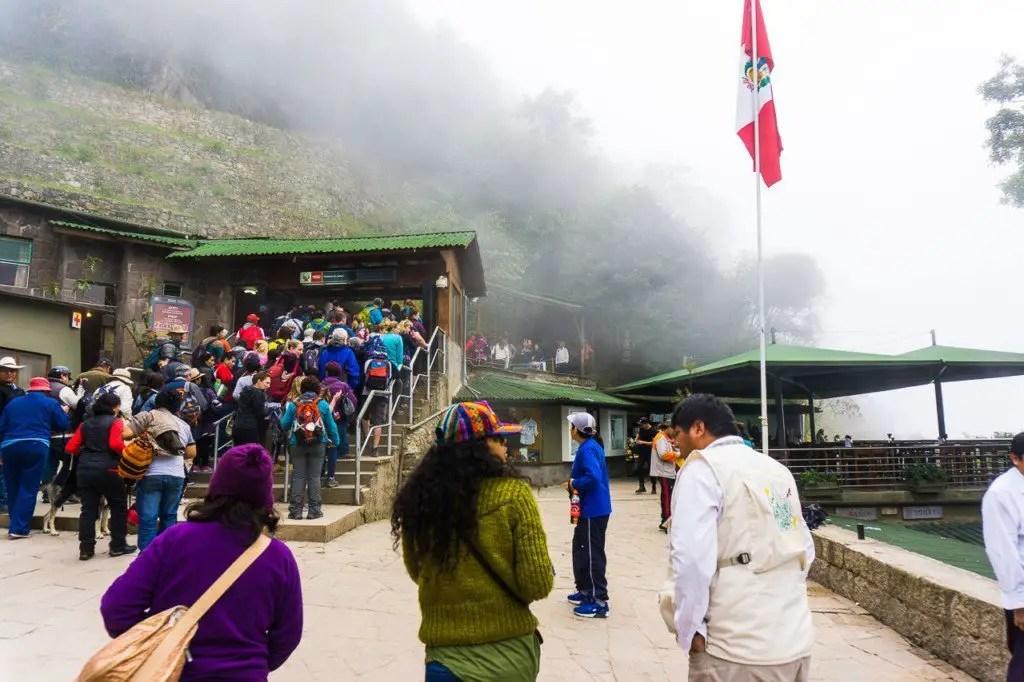 entrance machu picchu