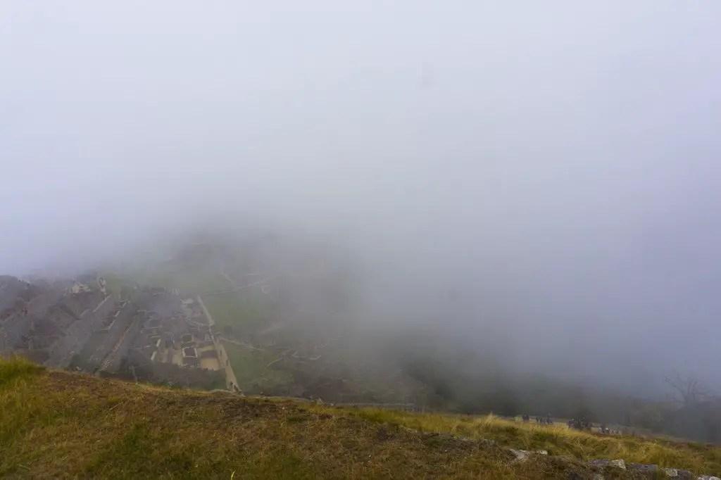 clouds machu picchu