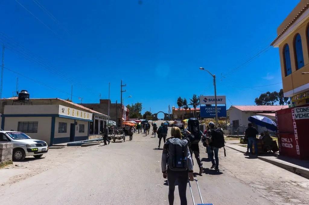 Peru bolivia border