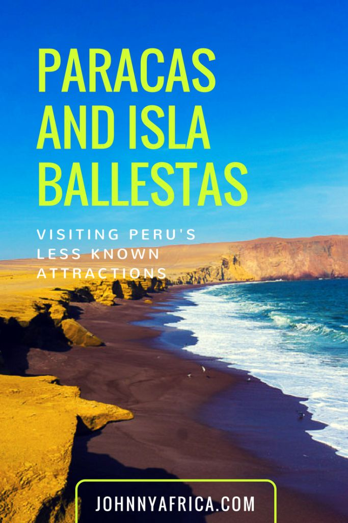 Near Lima, Paracas is a beautiful beach town famous for its famous national reserve and the Isla Ballestas, home to a million different birds and sea lions. #paracas #islaballesta #peru #lima