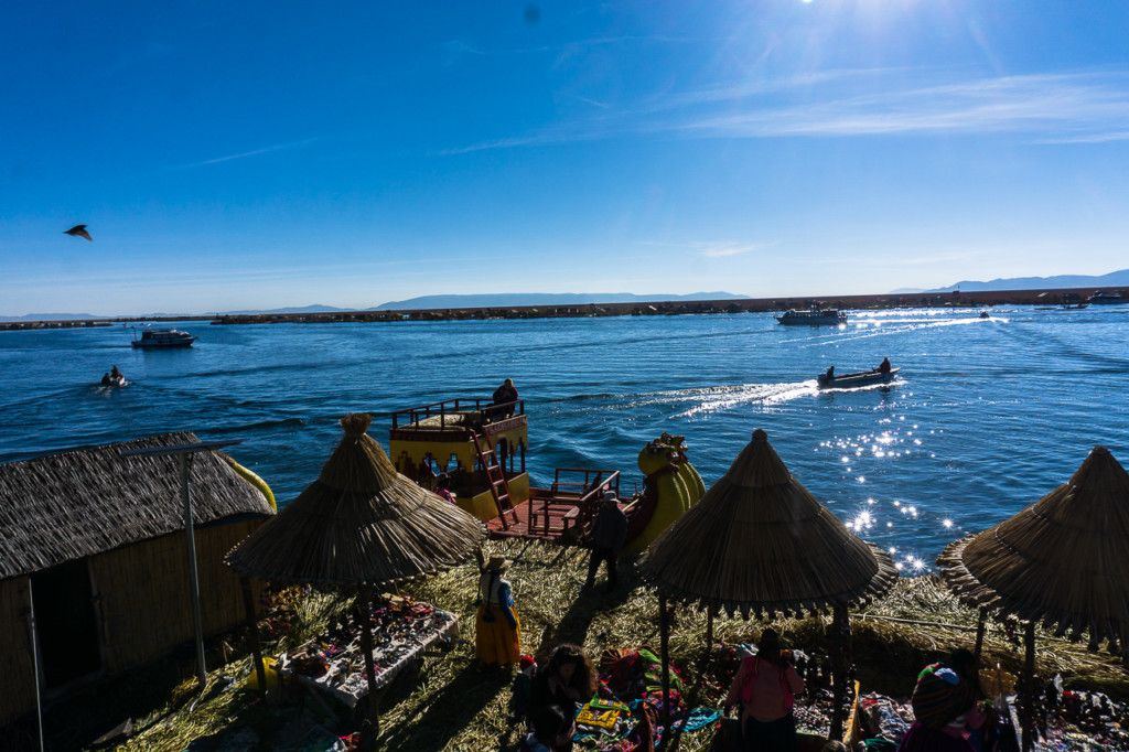 Lake Titicaca uros reed island