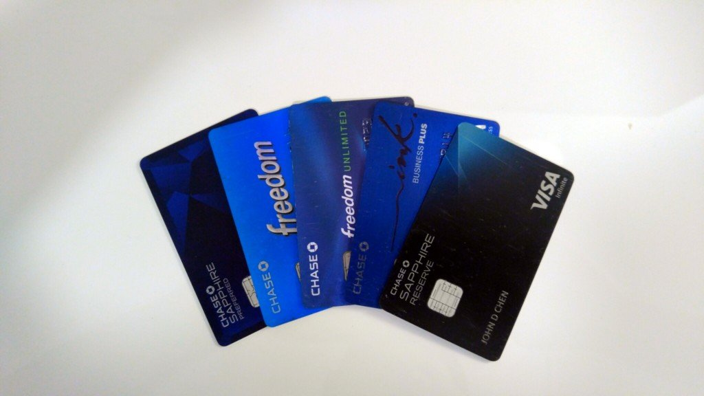 chase credit cards sapphire reserve preferred freedom unlimited