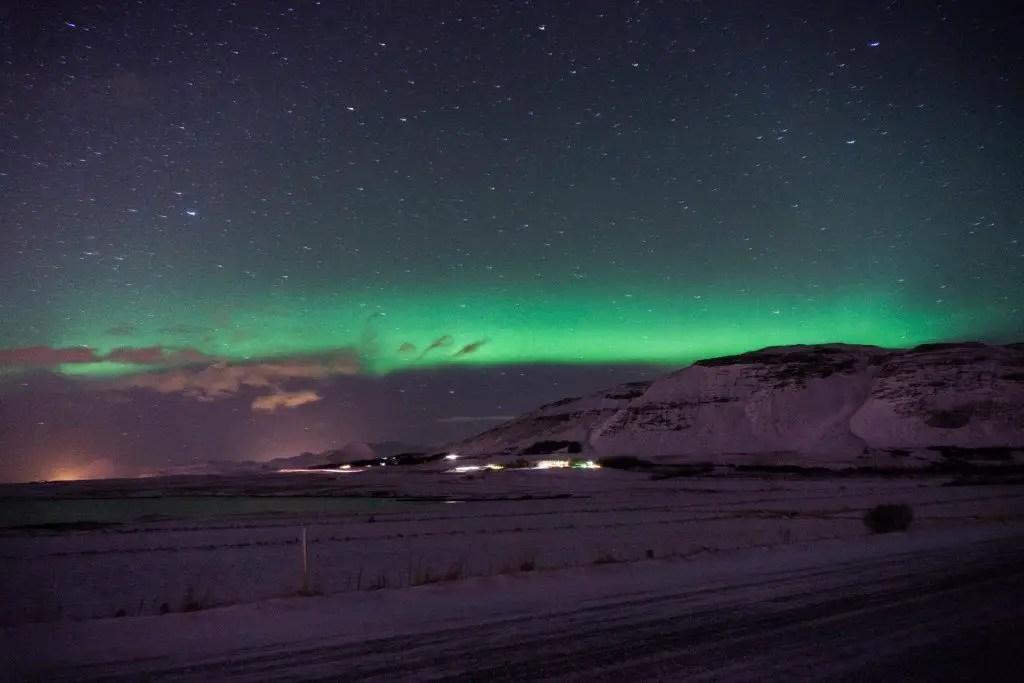 Northern lights in Iceland Reykjavik