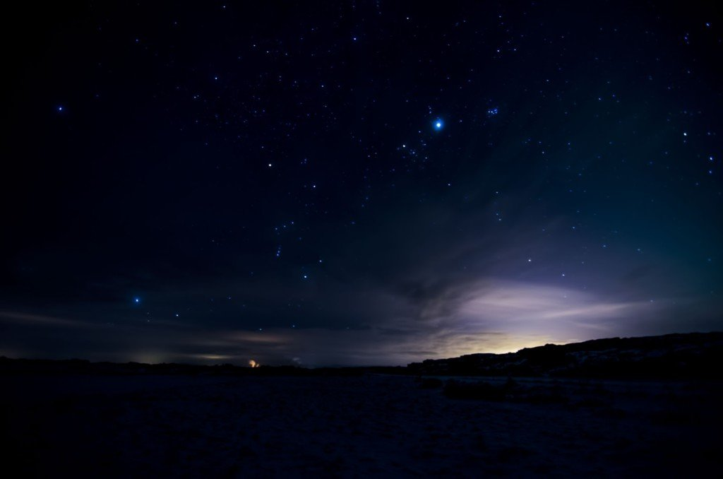 iceland night stars