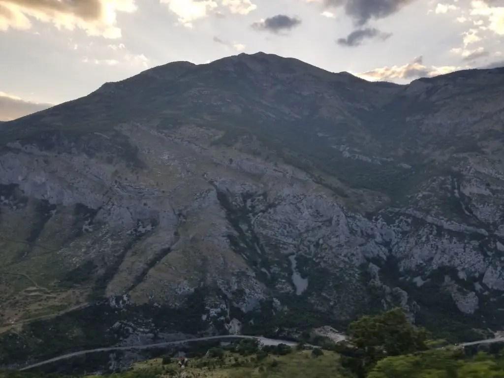 mountains belgrade to bar train