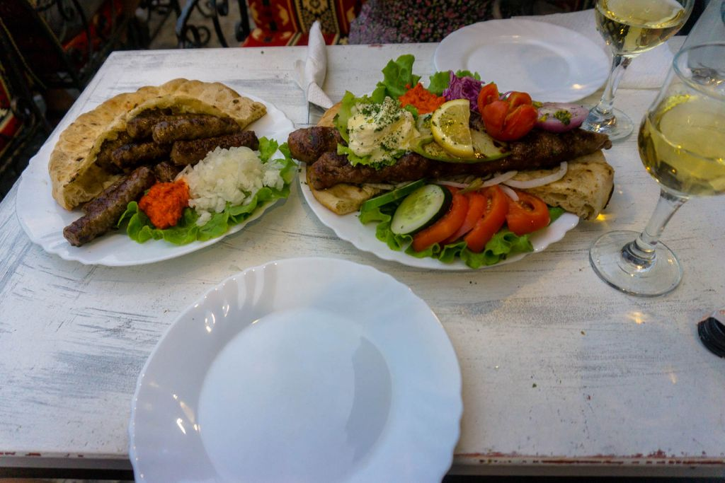 Cevapcici and grilled meat platter Tima Irma