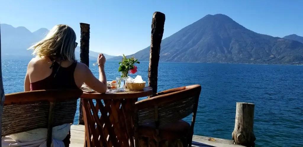 lake atitlan breakfast views