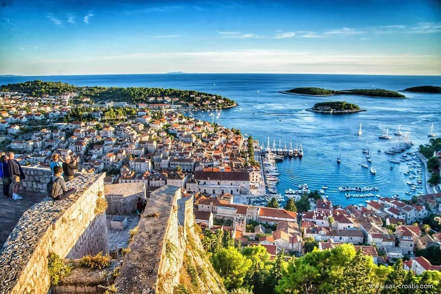 hvar beautiful views