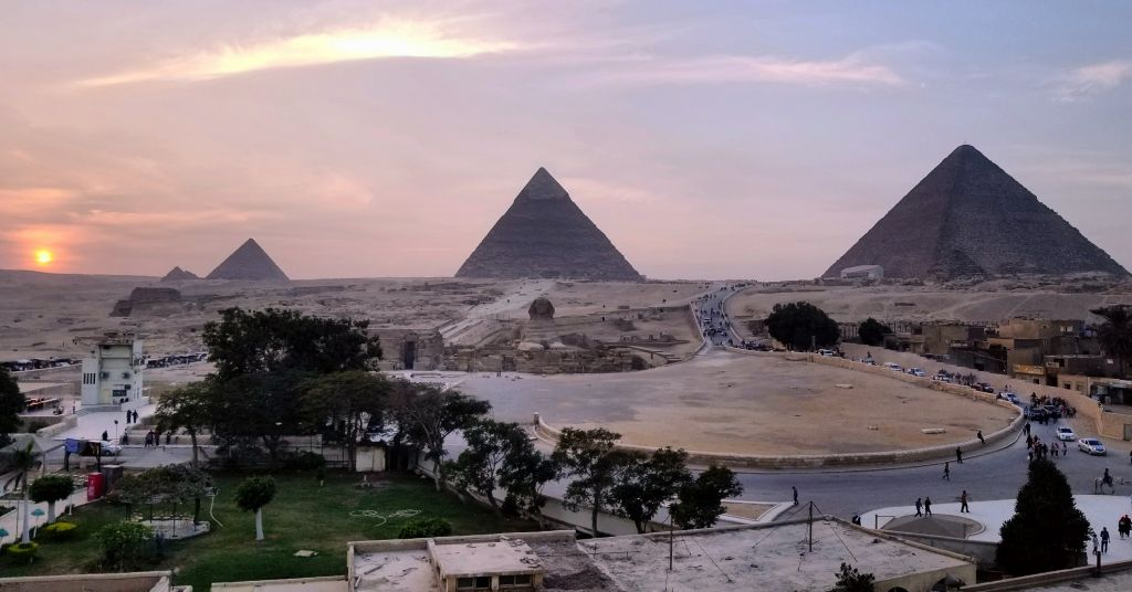 Guardian guest house rooftop views pyramids giza egypt