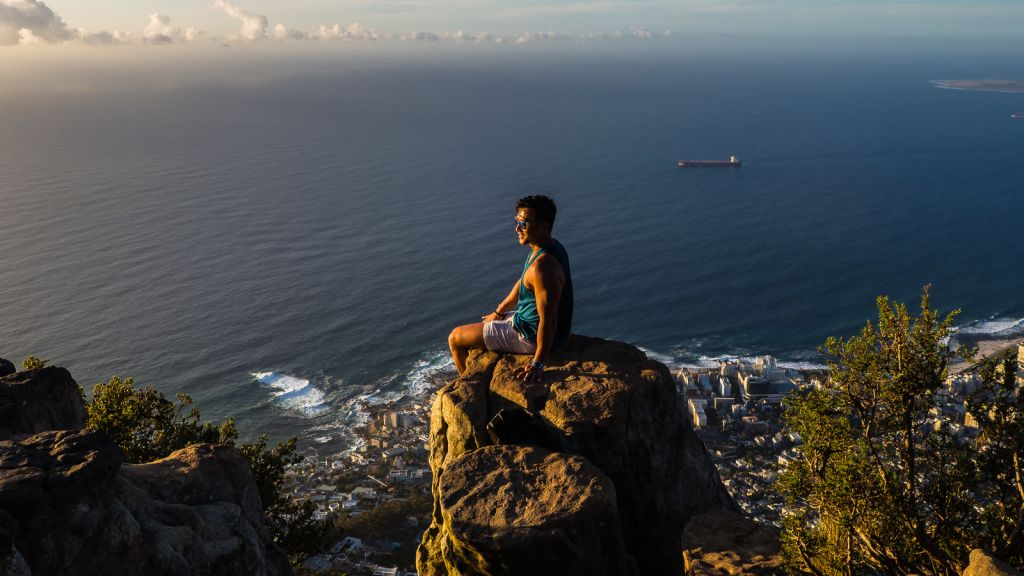 On Lion's Head with a view