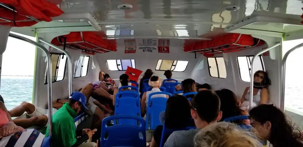 caye caulker ferry chetumal san pedro