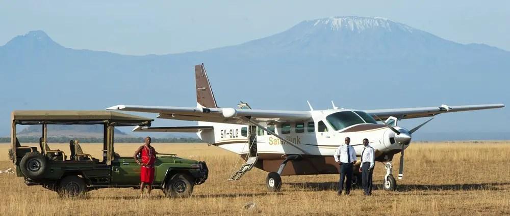 safari link kenya airplane