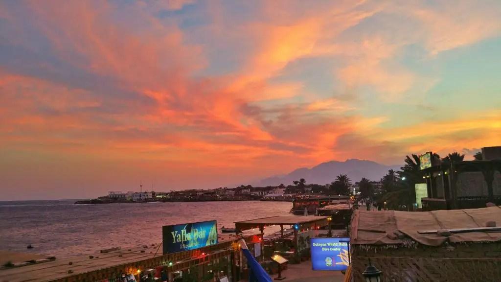 amazing sunset in dahab egypt