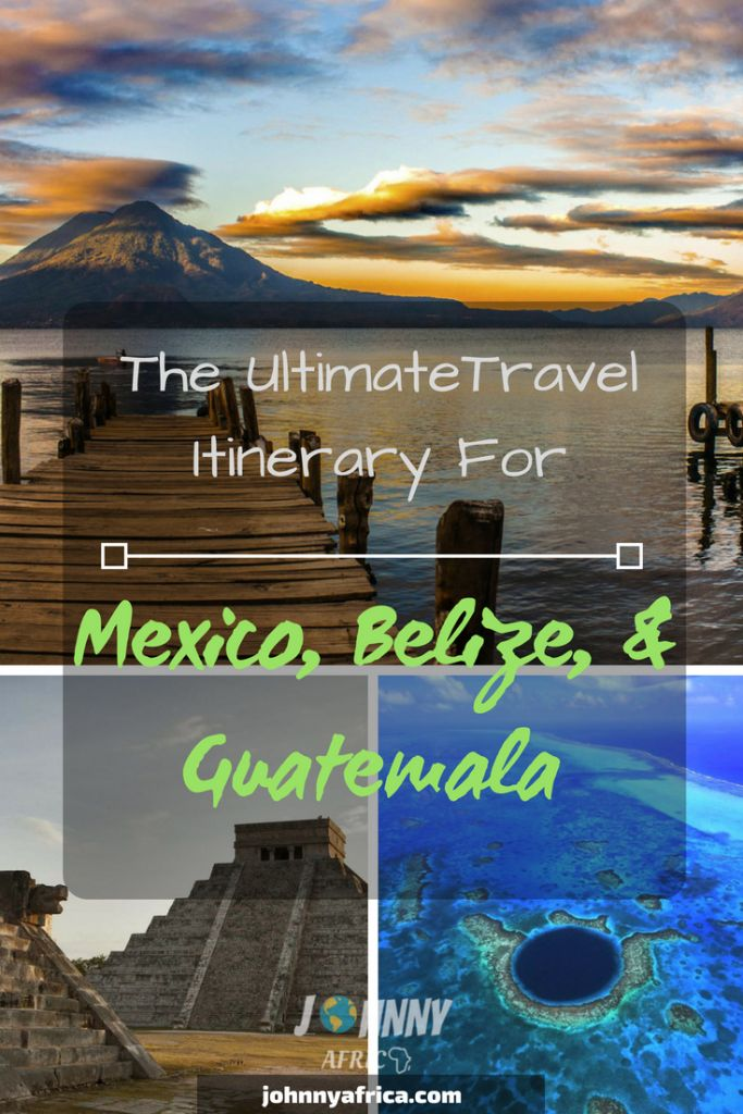 Mexico, Guatemala, and Belize make for the perfect Central American travel itinerary. Whether it's fantastic beaches, Mayan ruins, or nature's most stunning views, this itinerary will give you everything. Start in Cancun and work your way through the Yucatan provinces visiting Cozumel, Tulum, Bacalar before making your way to the beautiful and chill island of Caye Caulker. Then visit the ancient ATM caves and finally travel to Guatemala. #tikal #lakeatitlan #cozumel #tulum #cayecaulker #antigua
