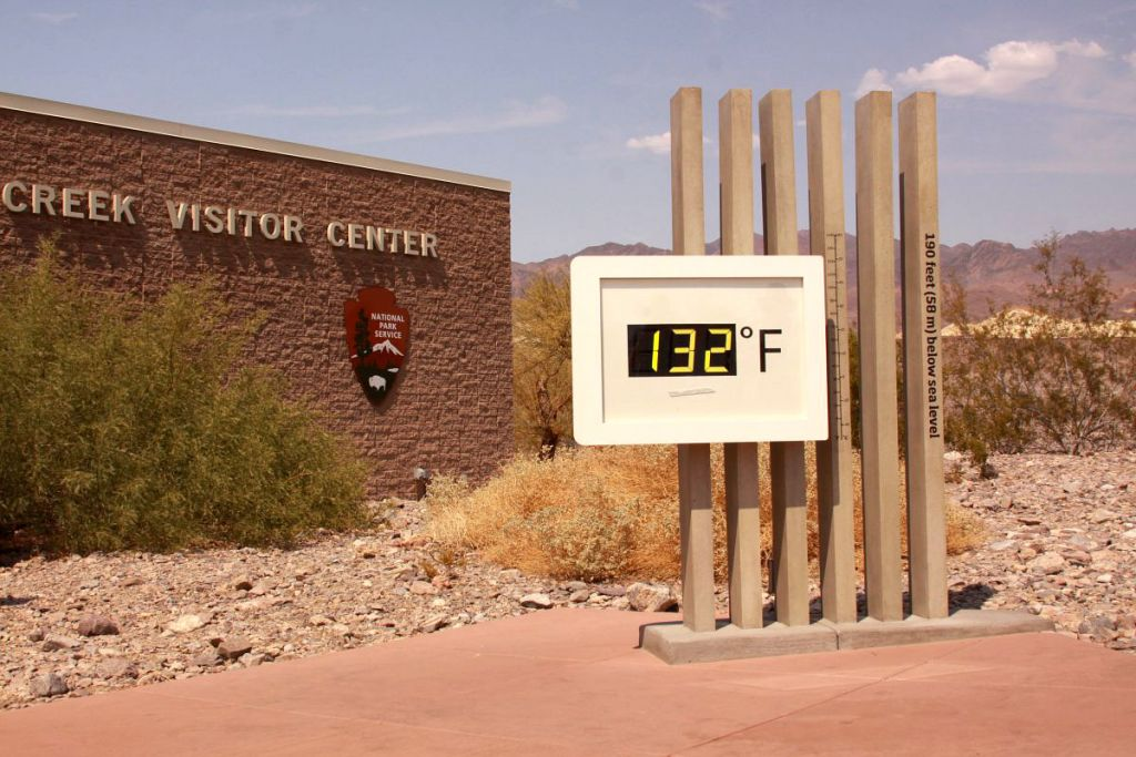 furnace creek death valley 132 degrees