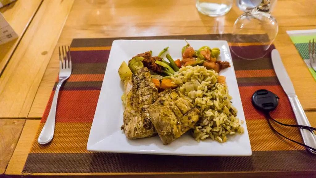 Grilled fish dakhla evasion lunch