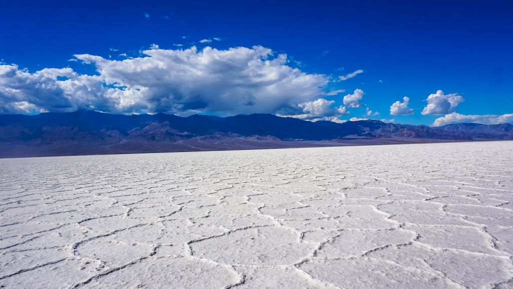 Badwater basin salt flats death valley