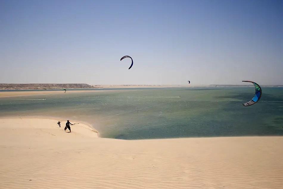 white dune dakhla morocco kitesurfing