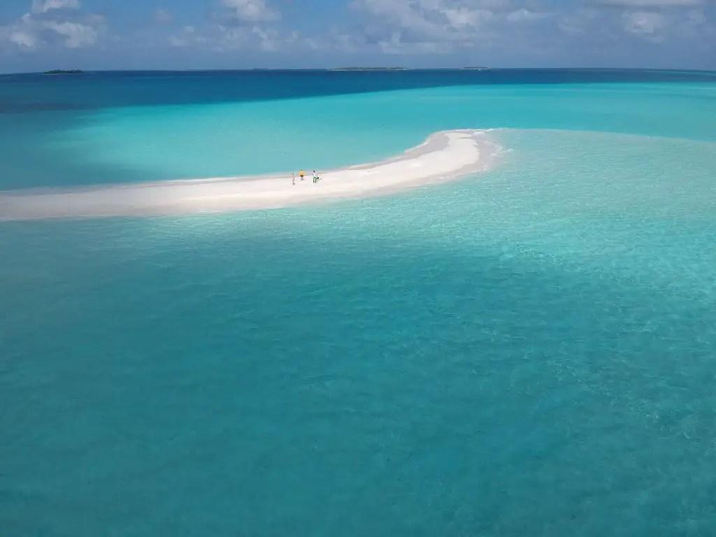 Maldives beach sandbank baa atoll