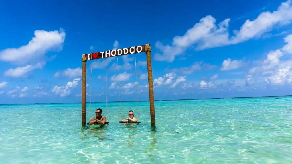 Thoddoo maldives beach